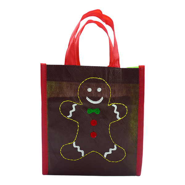 Christmas Eco Tote Gingerbread