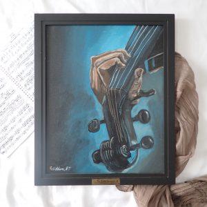 The Violin Screams Painting