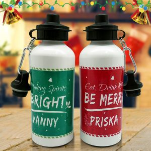 Christmas Sport Bottle Merry & Bright