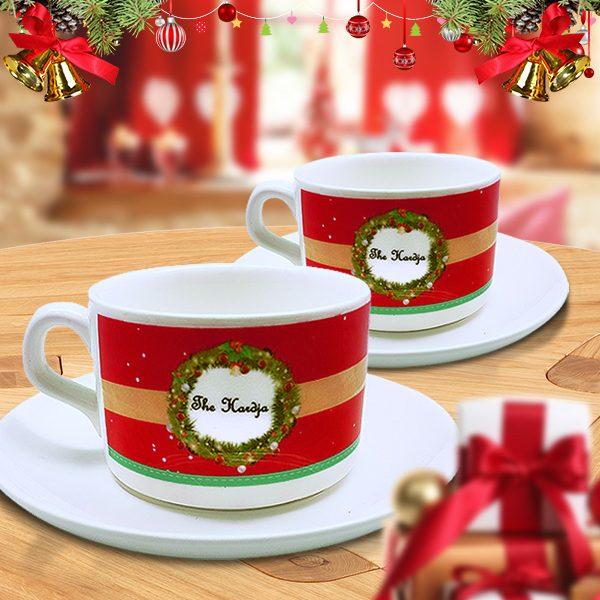 Tea Cup Christmas Wreath