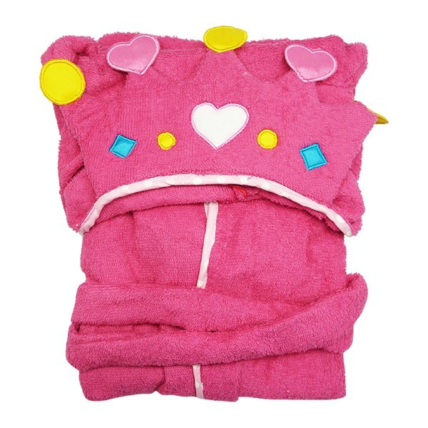Bathrobe Hoodie Princess Crown