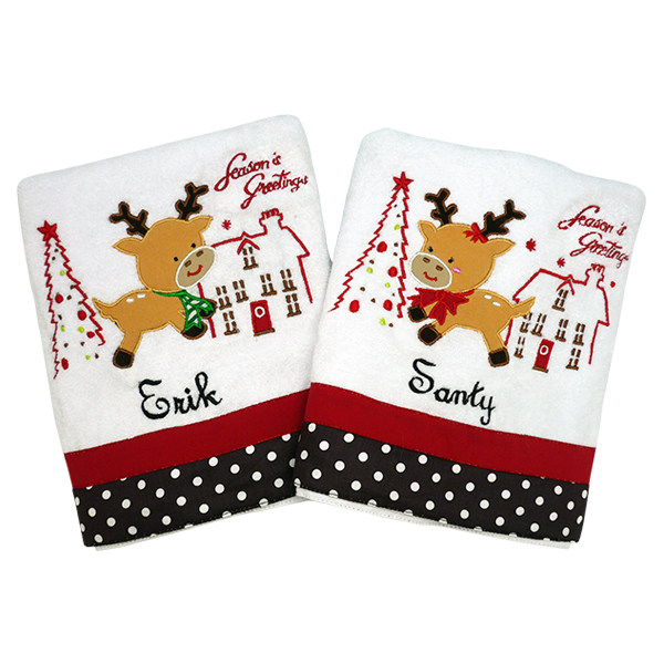 Bath Towel Christmas Couple