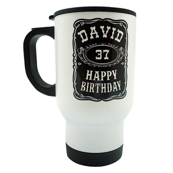 Travel Mug Happy Birthday Custom