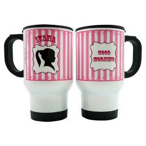 Stainles Travel Mug - Silhoute Girl 3