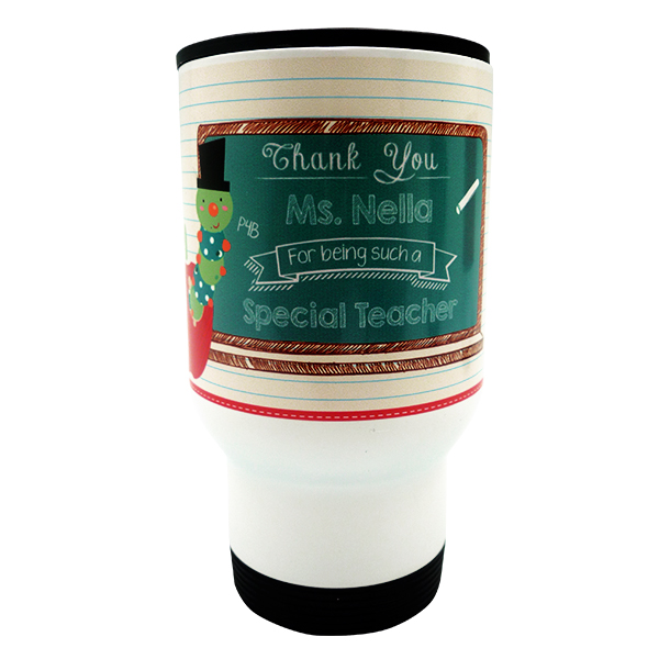 Travel Mug Teacher Apple