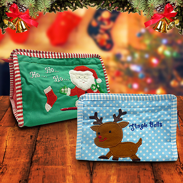 Toiletries Bag Triangle Santa