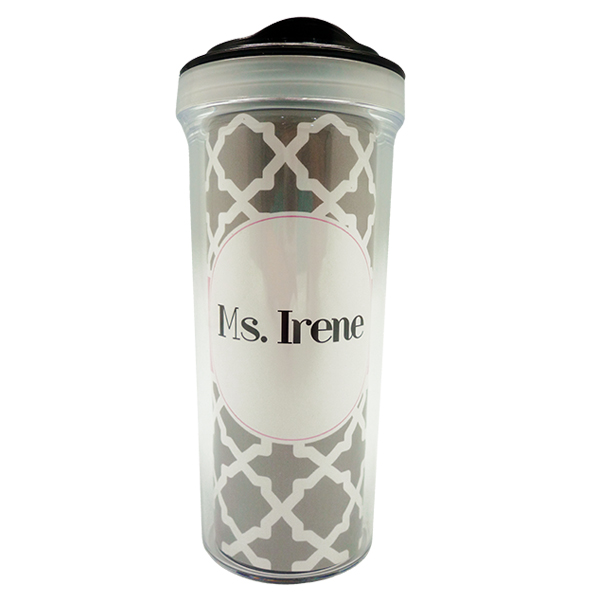 Tumbler Bottle Geometric Grey