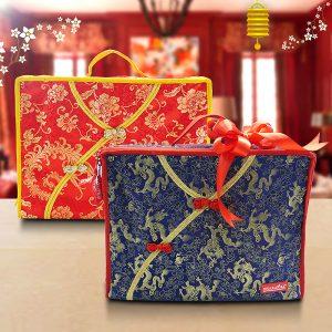 5. Cheongsam Suitcase - Biru & Merah