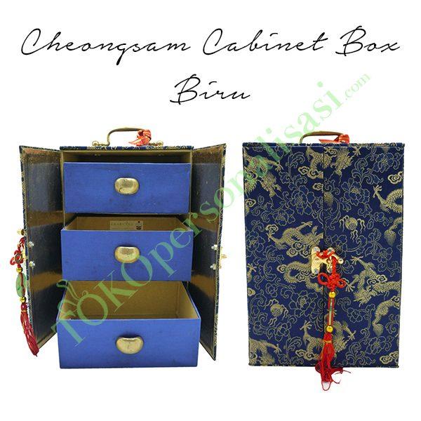 Cheongsam Cabinet Box - Biru