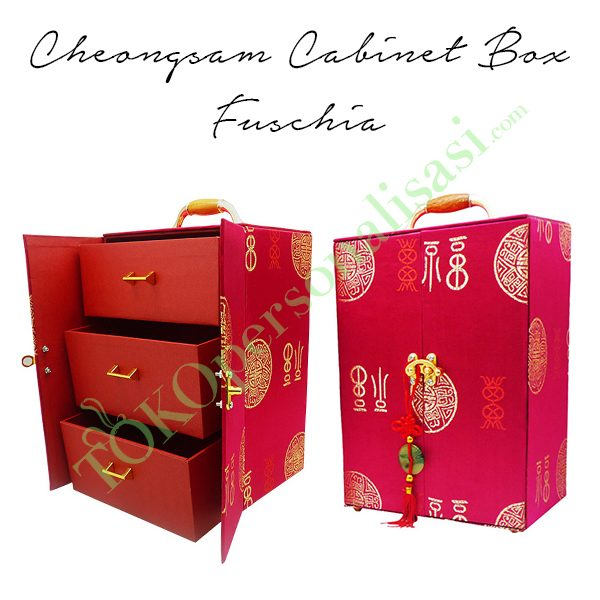 Cheongsam Cabinet Box - Fuschia