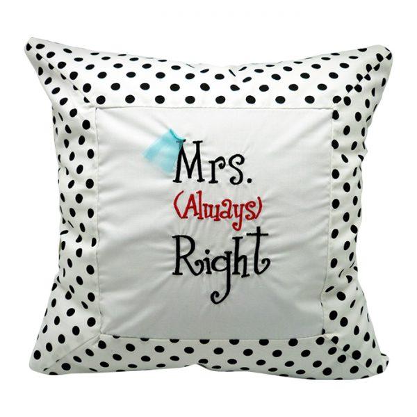 Chusion Mrs. Right - White Polkadot 1