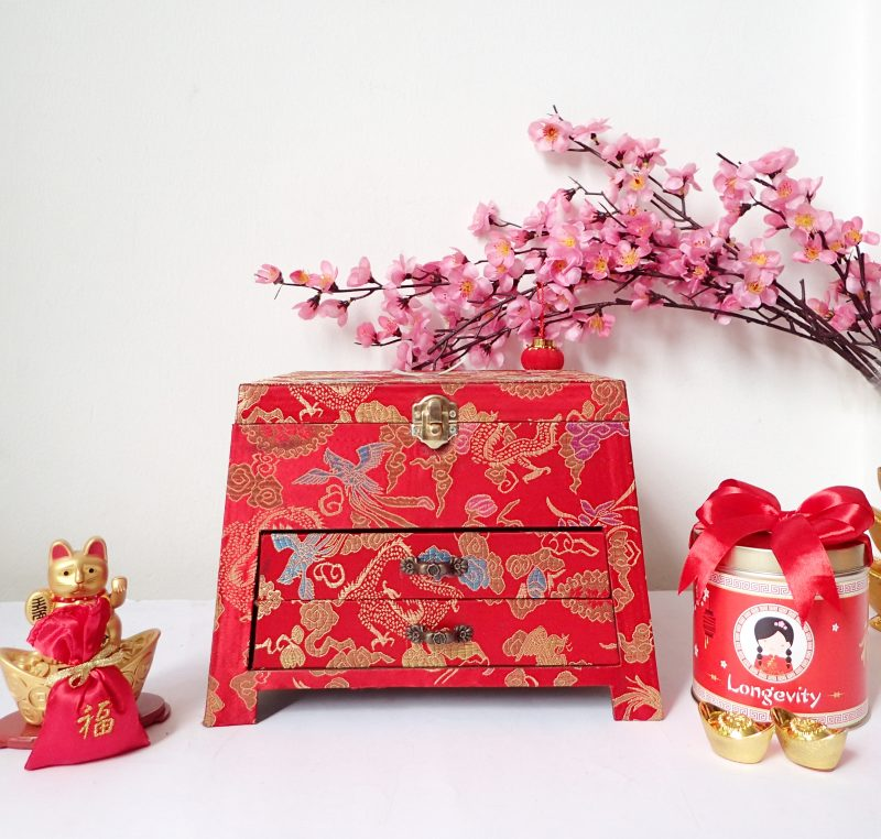 Chinese New Year Trapezium Jewelry Box