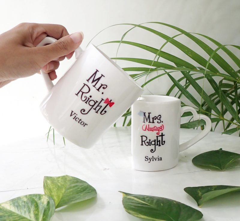 Valentine Coffee Mug Couple Mr & Mrs Right