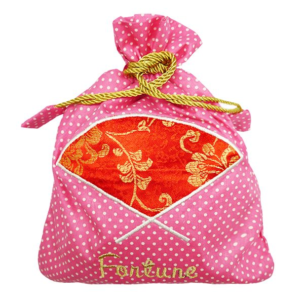 String Bag Chinese New Year - Fan Polkadot 1