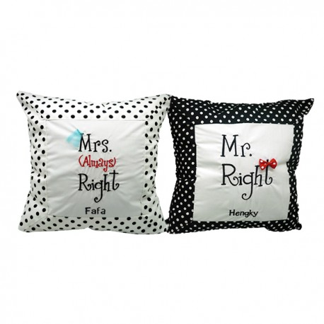 Valentine Cushion Couple Mr & Mrs Right