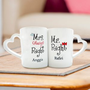 Mug Couple Valentine Mr. & Mrs. Right
