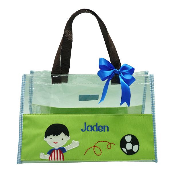 Hand Bag Clear Mica Soccer