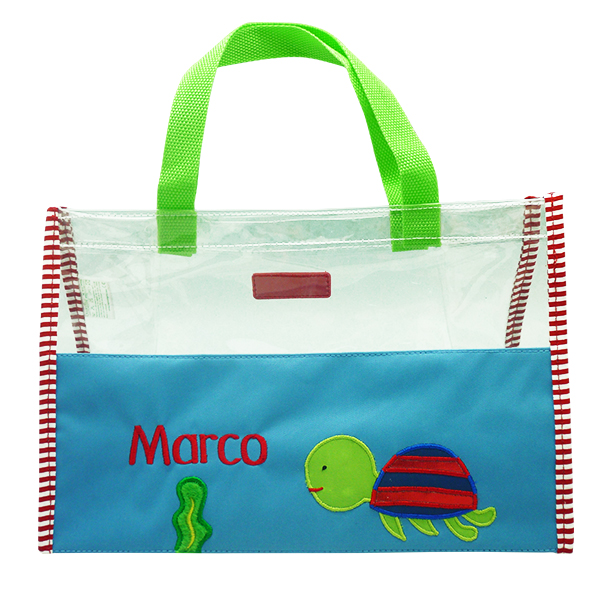 Hand Bag Clear Mica Turtle