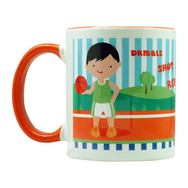 Coffee Mug Basketball Boy