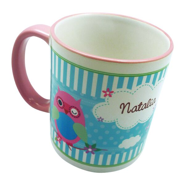 Coffee Mug Owl Girl