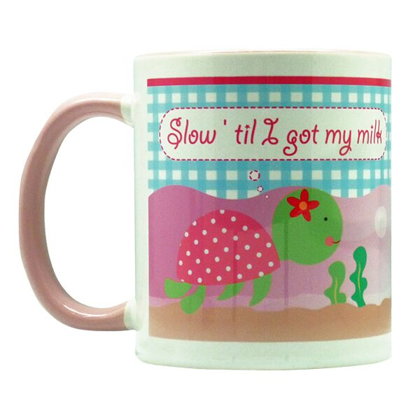 Coffee Mug Turtle Pink