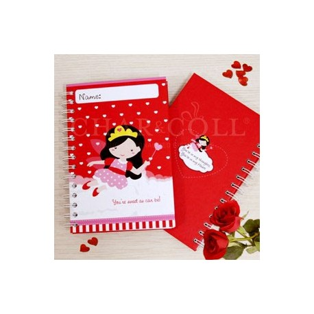 Valentine Notebook Red Amelia