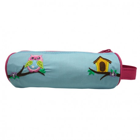 Pencil Pouch Berry Owl