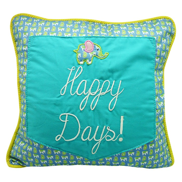 Cushion Green Elephant