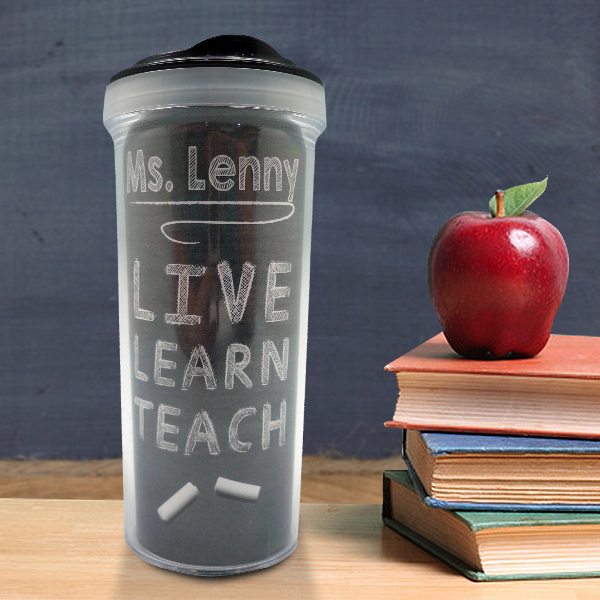 Tumbler Bottle Live Learn Teach