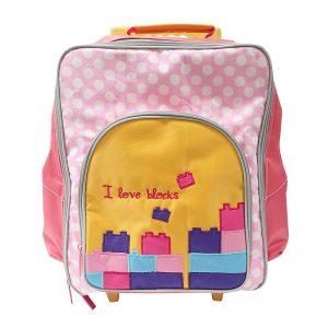 Tas Trolley Anak Lego Pink