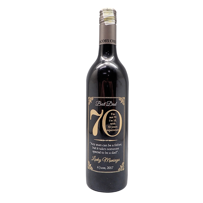 Custom Wine 70th Birthday