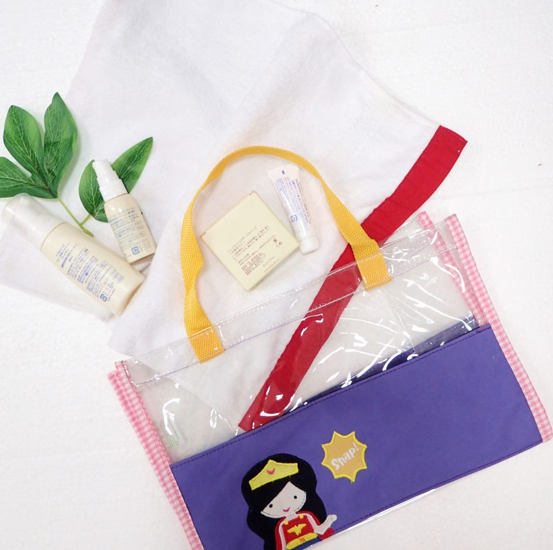 Hand Bag Clear Mica Wonder Woman