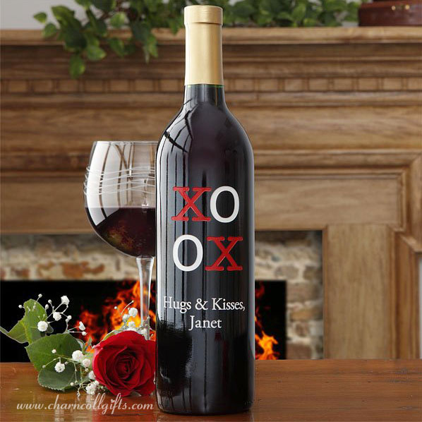 Custom Valentine Wine