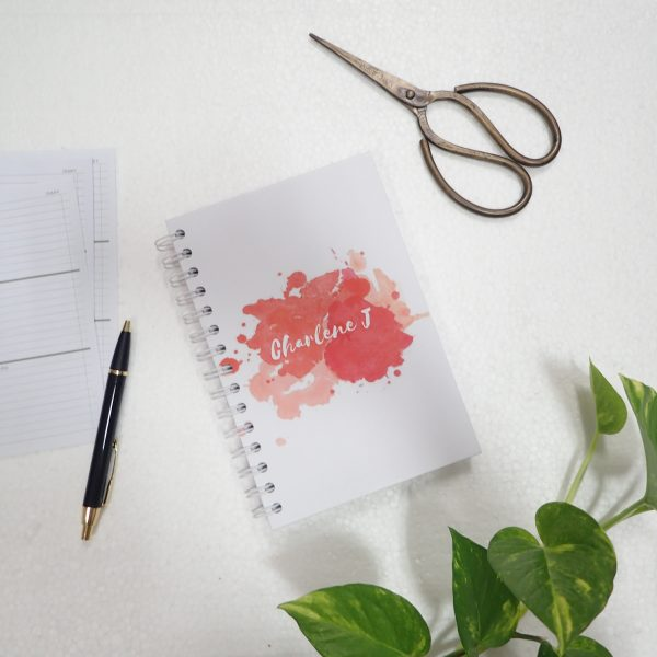 Notebook Art Paint Splash Red
