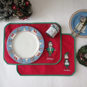 Place Mat Christmas Family Characters
