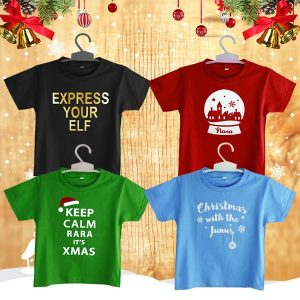 Christmas Typography T - Shirt Custom Design | Christmas Gift Ideas