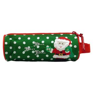 Round Pencil Pouch Christmas Santa
