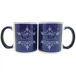 Coffee Mug Christmas Snowflakes