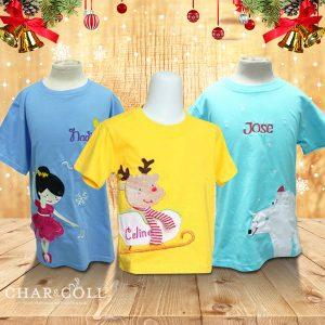 Christmas Embroidery T - Shirt Custom Design | Christmas Gift Ideas