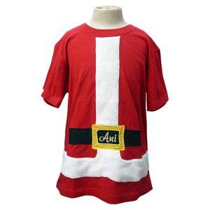 Christmas Santa Embroidery T - Shirt Custom Design | Christmas Gift Idea