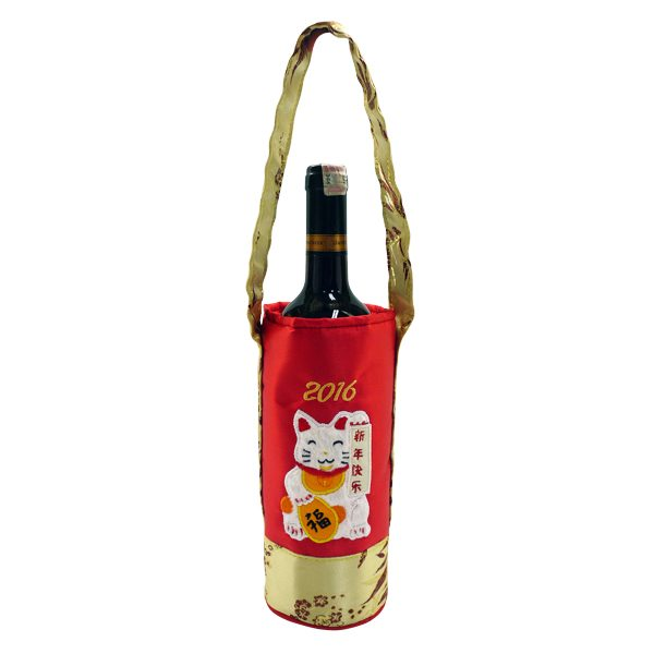 Chinese New Year Wine Bag Lucky Cat | Chinese New Year Gift Ideas
