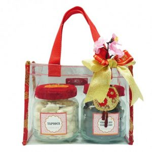 Chinese New Year Clear Mica Tote Cookies | Chinese New Year Gift Ideas