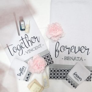 Premium Valentine Towel Set Couple Package | Valentine Gift Ideas