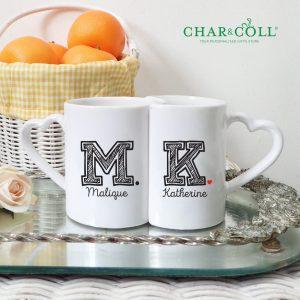 Valentine Couple Coffee Mug Initial | Cute Valentine Gift Ideas