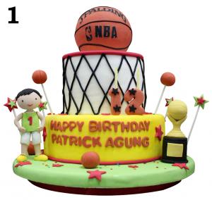 Jual Kue Ulang Tahun Custom Basketball