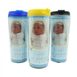 Jual Botol Minum Tumbler Custom Foto Bayi | Bingkisan Baby 1 Bulanan